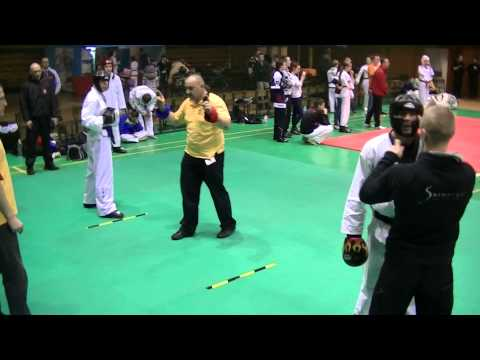 XXX Open Polish Taekwondo Championships 2013, Czestochowa, Chris E, Semi-Contact, Fight #1