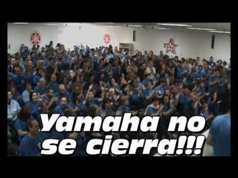 Los 16 mienbros de la representacion legal de los trabajadores (comité de empresa y seccion sindical) reivindican su negativa al cierre de yamaha Motor Españ...