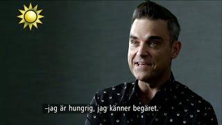 """Världsartisten Robbie Williams:  """"Jag är på topp nu"""" - Nyhetsmorgon (TV4)"""