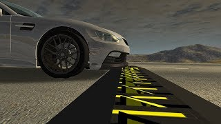 Beamng drive - Spike Strip (Slow Motion Crashes at 200+ kmph)