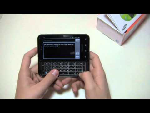 Samsung Captivate Glide Unboxing