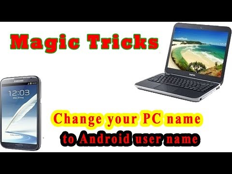 Magic Tricks |  Change your PC name to Android user name | Bangla computer tricks & tips