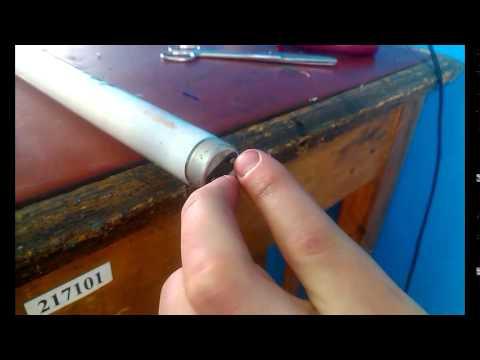 Видео как проверить лампу дневного света мультиметром