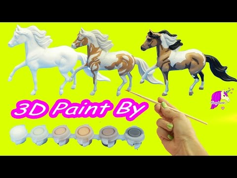 DIY Breyer 3D Paint by Number Pinto Paint Resin Pony Do It Yourself Painting Kit Review