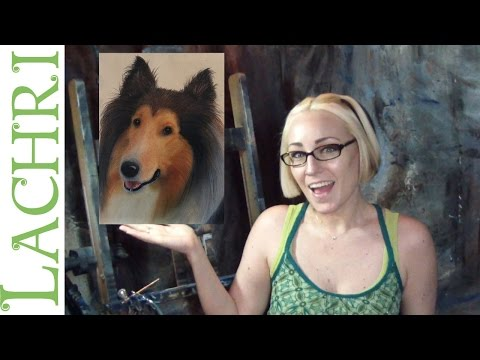 Critique your painting series - art tips w/ Lachri - collie in pastels