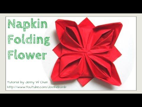 Christmas table setting how to fold a rose flower napkin folding