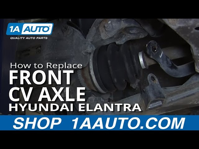 How To Install replace Front CV Joint Axle 2001-06 Hyundai ...