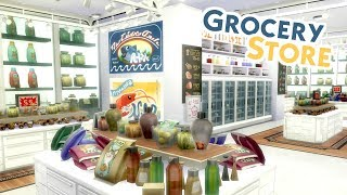 GROCERY STORE | Sims 4 Speed Build