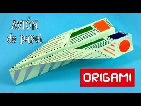 Avión de papel fácil - Papiroflexia / Origami
