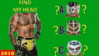 WWE QUIZ - Only True WWE Fans Can Find WWE WRESTLERS HEAD? [HD]