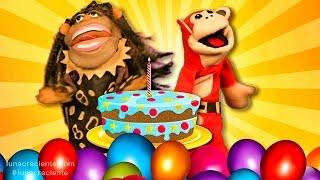 Canción de Cumpleaños Con El Mono Sílabo y Nícola Cavernícola - Videos para niños