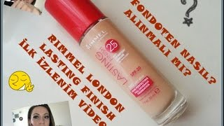 Rimmel London Lasting Finish İlk İzlenim (Review)