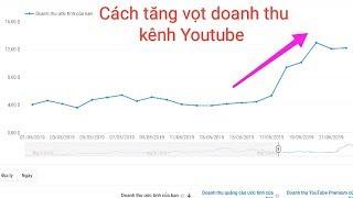 Cách tăng doanh thu kiếm tiền kênh Youtube - không phải ai cũng biết