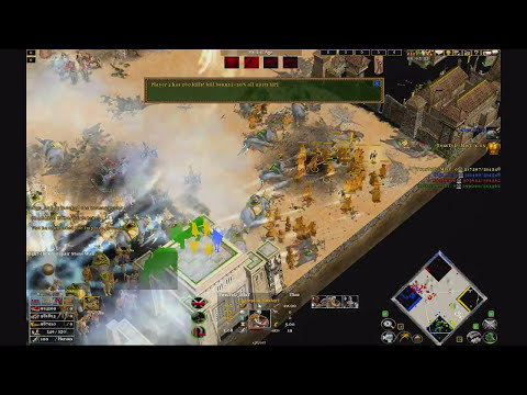 Age of mythology the TITANS 2V2 online match ( Tiny castle blood )