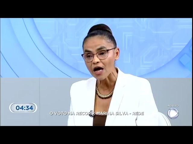 Marina Silva fala sobre sua posição contrária ao aborto.