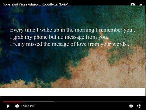 Dora and Dreamland - Goodbye (lyric)