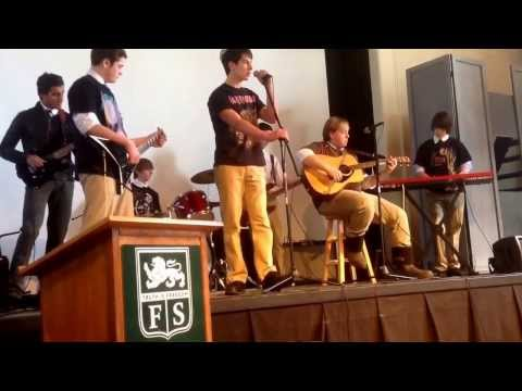 Forman school rock ensemble plays Running down a dream