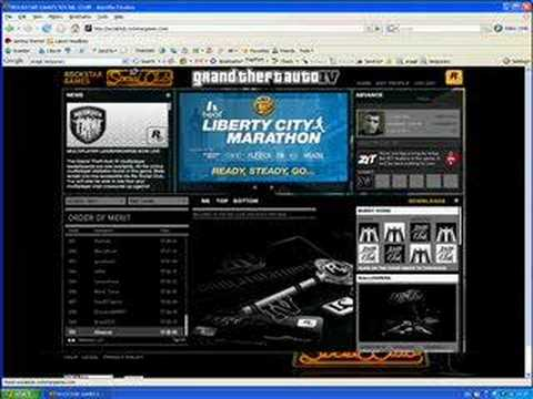 What you get on Rockstar Social Club for GTA IV 100% Video