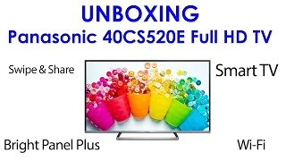 01. Panasonic 40CS520E unboxing