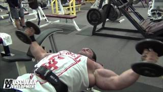 IFBB Pro Brian Yearsky Trains Chest Off Season