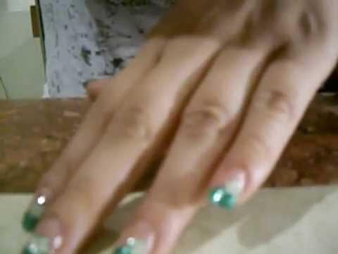 Uñas Pintadas en Verde Agua Decoracion de Uñas en Verde y