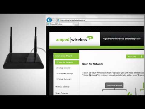 AmpedWireless Smart Repeater SR150 / SR300 Introduction