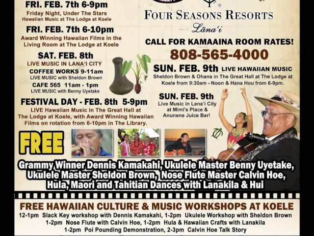 Lanai Hawaiian Culture, Film & Music Festival 2014