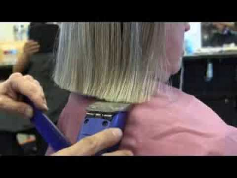 Very long hair cut short clipper haircut video 18- 20 inches cut off /womens cli