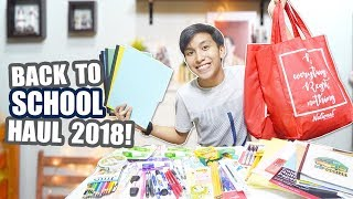 Back-To-School Supplies Haul 2018! ft. National Book Store (Philippines)