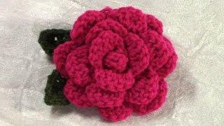 DIY Crochet Flower, Tutorial, Crochet Flower/ Leaf Pattern