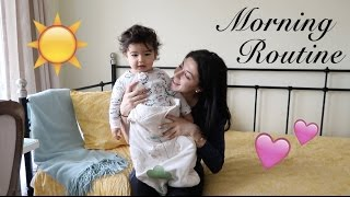 Morning Routine with a 15 month old Toddler   RealLeyla