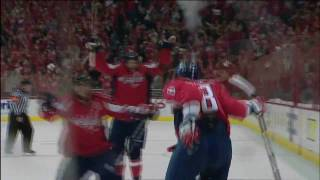 Alex Ovechkin first playoff hat trick! HD