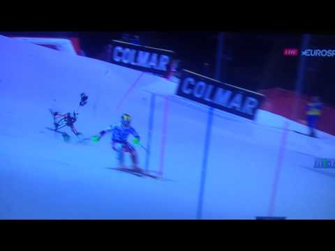 MARCEL HIRSCHER ALMOST HIT BY DRONE