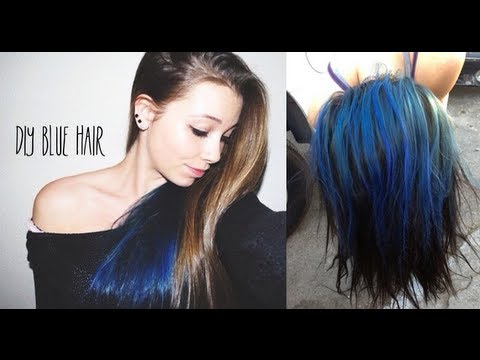 diy blue hair youtube