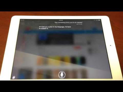 Siri On The iPad Air