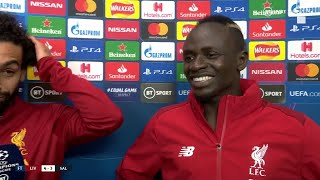 """Finally Andy Robertson scored!"" Mo Salah and Sadio Mane are over the moon for their teammate"