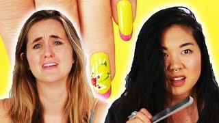 Women Try DIY Gel Manicures