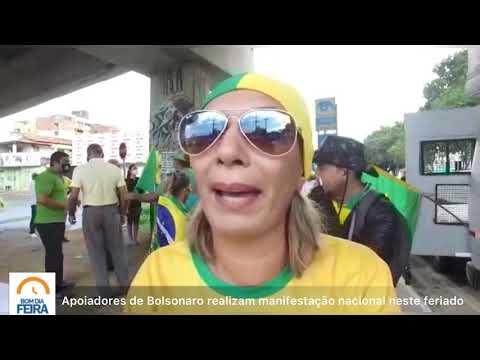 Apoiadores de Bolsonaro realizam manifestação nacional neste feriado