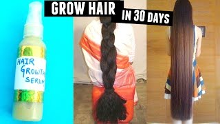 How to get long hair fast!! Magical Hair Growth Serum For Hair Loss , Hair Restoration