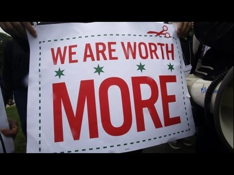 McDonald's workers demand higher wages