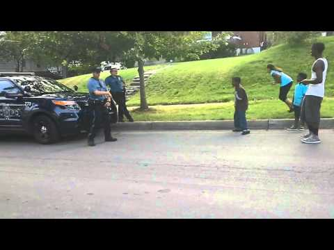 Rookie Mo. cop squares off with kids in dance battle
