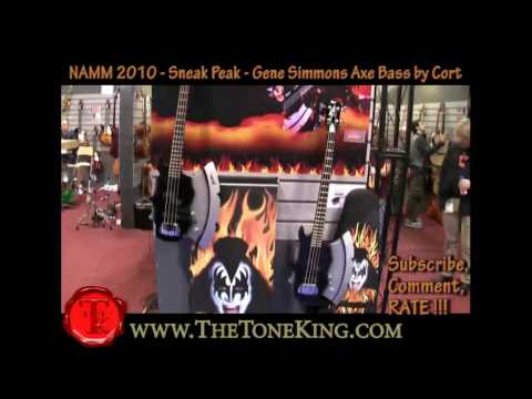 Gene Simmons Kiss Axe Bass by Cort - NAMM 2010 10 TTK Coverage GS-Axe2