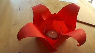 How To Make An Origami Tulip Lamp - Falte Dir Deine Origami Tulpenlampe!