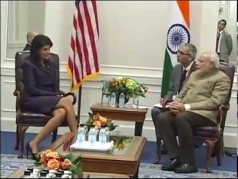 PM Modi meets the Governor of South Carolina, Nikki Haley in New York