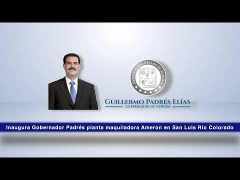 Inaugura Gobernador Padrés planta maquiladora Ameron en San Luis Río Colorado. 14-10-2014