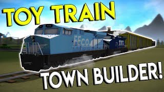 BUILDING A TOY TRAIN WORLD & RIDING TRAINS! - Train Frontier Classic Gameplay - Toy Train Game