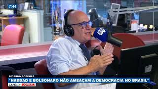 Ricardo Boechat: Não estamos diante de um abismo, a democracia é maior que os 2 candidatos