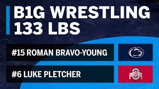 133 LBS: #15 Roman Bravo-Young (Penn State) vs. #6 Luke Pletcher (Ohio State)   Big Ten Wrestling