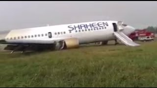 Plane crash lands in Pakistan, at least 10 injured