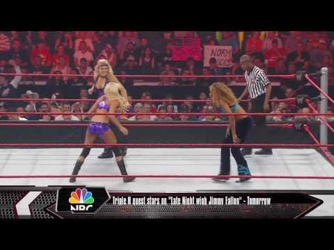 WWE Raw 8/10/09 Kelly Kelly vs Gail Kim vs Beth Phoenix vs Alicia Fox Fatal Four Way